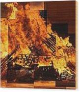 Iceland Bonfire Wood Print