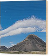 Iceland Cloudscape Panorama Wood Print