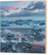 Iceland Daybreak Wood Print