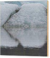 Iceland Fjallsjokull Glacier Reflects Wood Print