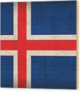 Iceland Flag Vintage Distressed Finish Wood Print by Design Turnpike