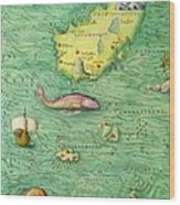 Iceland, From An Atlas Of The World In 33 Maps, Venice, 1st September 1553 Wood Print