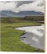 Iceland Landscape Wood Print