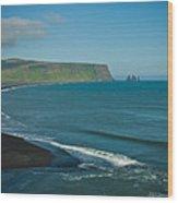 Icelandic Beach Wood Print
