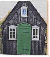 Icelandic Old House Wood Print
