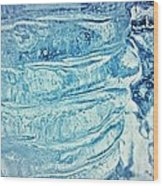 Icicle Abstract Triptych 2 Blue Wood Print by Marie Spence