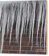 Icicle Wall Wood Print