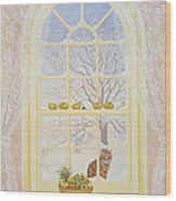 Icicles Wood Print by Ditz