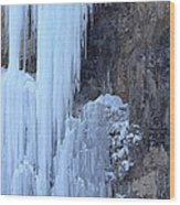 Icicles Wood Print