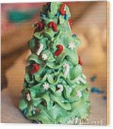Icing Christmas Tree Wood Print