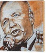 Icon Frank Sinatra Wood Print
