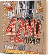 Iconic 42nd Street-nyc Wood Print