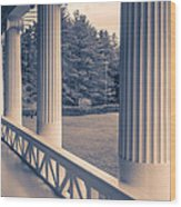 Iconic Columns On An Estate Wood Print