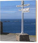 Iconic Lands End England Wood Print
