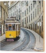 Iconic Lisbon Streetcar No. 28 IIi Wood Print