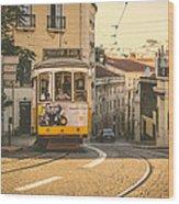 Iconic Lisbon Streetcar No. 28 Iv Wood Print