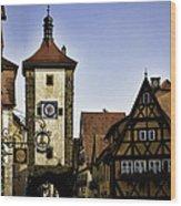 Iconic Rothenburg Wood Print