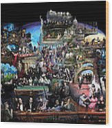 Icons Of History And Entertainment Wood Print