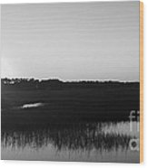 Icw Sunset In Black And White Wood Print