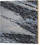 Icy Coast Wood Print by Susan Hernandez