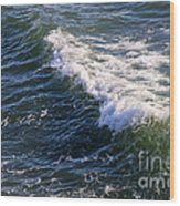 Icy Cold Ocean Water Wood Print