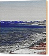 Icy Cold Seascape Digital Painting Wood Print