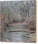 Icy Creek Wood Print