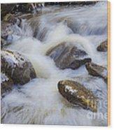 Icy December Brook Wood Print
