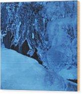 Icy Grimace Wood Print