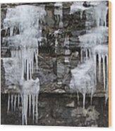 Icy Ledges Wood Print