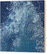 Icy Midnight Blue Wood Print