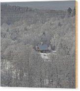 Icy Morn Wood Print
