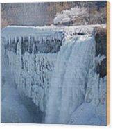 Icy Niagara Falls Wood Print