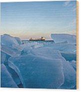 Icy Passage Wood Print