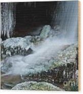 Icy Patapsco Waterfall 2 Wood Print