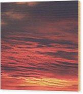 Icy Red Sky Wood Print