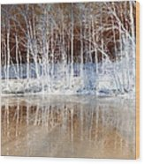 Icy Reflections Wood Print