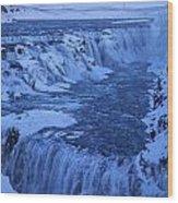 Icy River Wood Print