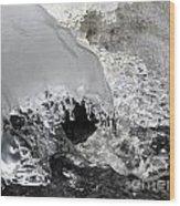 Icy Water Wood Print