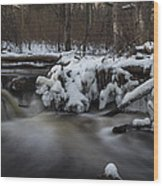 Icy Waters Wood Print