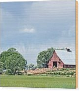 Idaho Falls Barn Wood Print