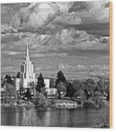 Idaho Falls Temple Wood Print