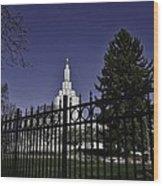 Idaho Falls Temple Series 3 Wood Print
