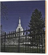 Idaho Falls Temple Series 4 Wood Print