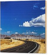 Idaho Road Titl Shift Wood Print