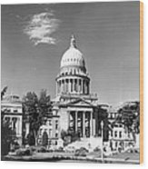 Idaho State Capitol Building Wood Print