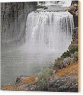 Idaho Waterfall Wood Print