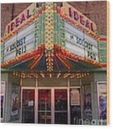 Ideal Theater In Clare Michigan Wood Print