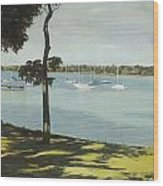 Idle Boats On White Rock Lake Wood Print