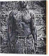 Idris Elba Wood Print